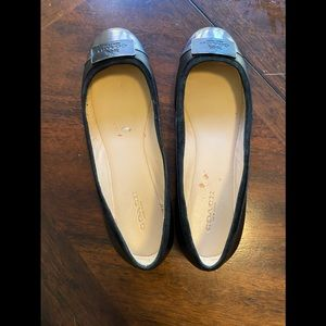 Coach Chelsea Patent Leather Capped Toe Flat Black